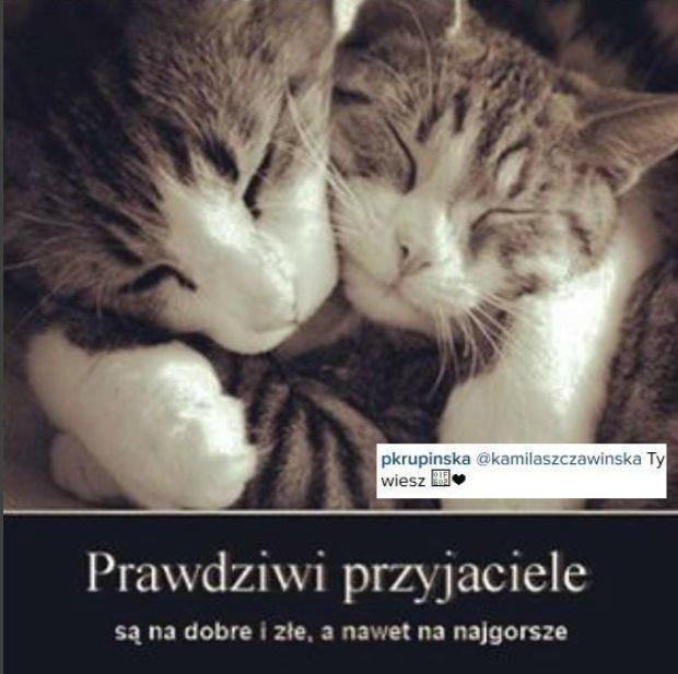 Zdjęcie na Instagramie Pauliny Krupińskiej