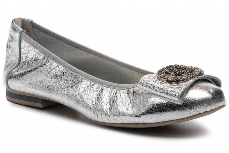 srebrne baleriny z gumką