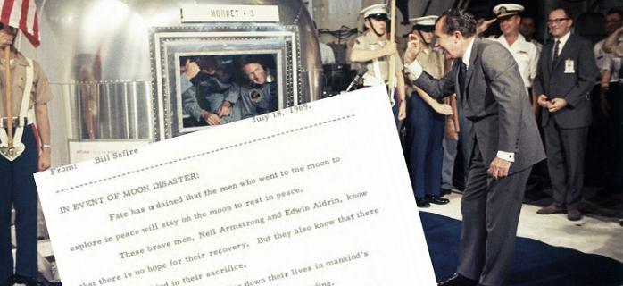 Sekretna przemowa Nixona na wypadek śmierci astronautów z Apollo 11