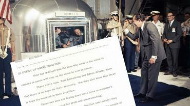 Prawie 30 lat była tajemnicą. Mowa Nixona na wypadek śmierci załogi z Apollo 11