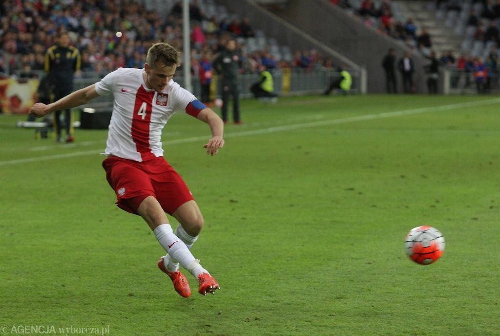 Polska U-21 - Szwecja U-21 0:0. Tomasz Kędziora z Lecha Poznań