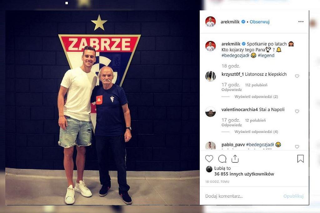 Arkadiusz Milik odwiedził stadion Górnika Zabrze