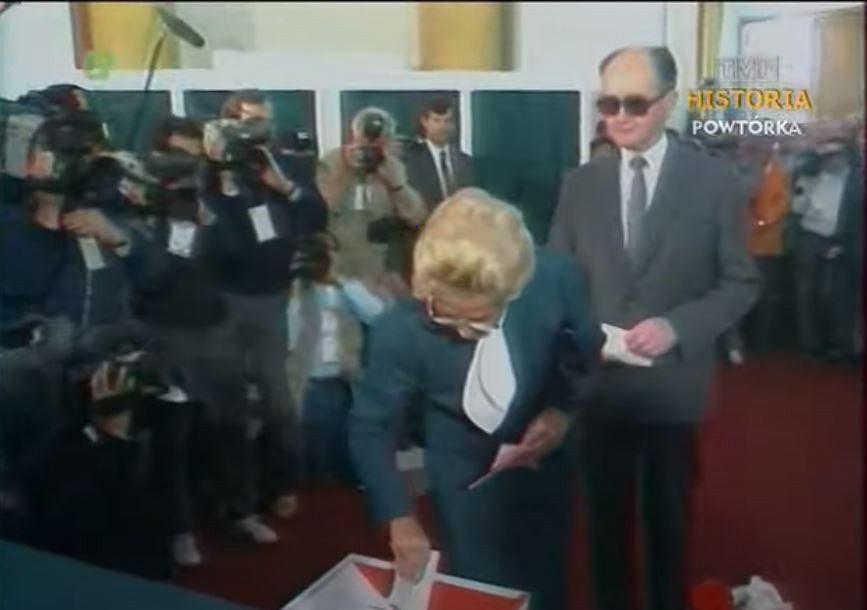 Gen. Wojciech Jaruzelski i Barbara Jaruzelska