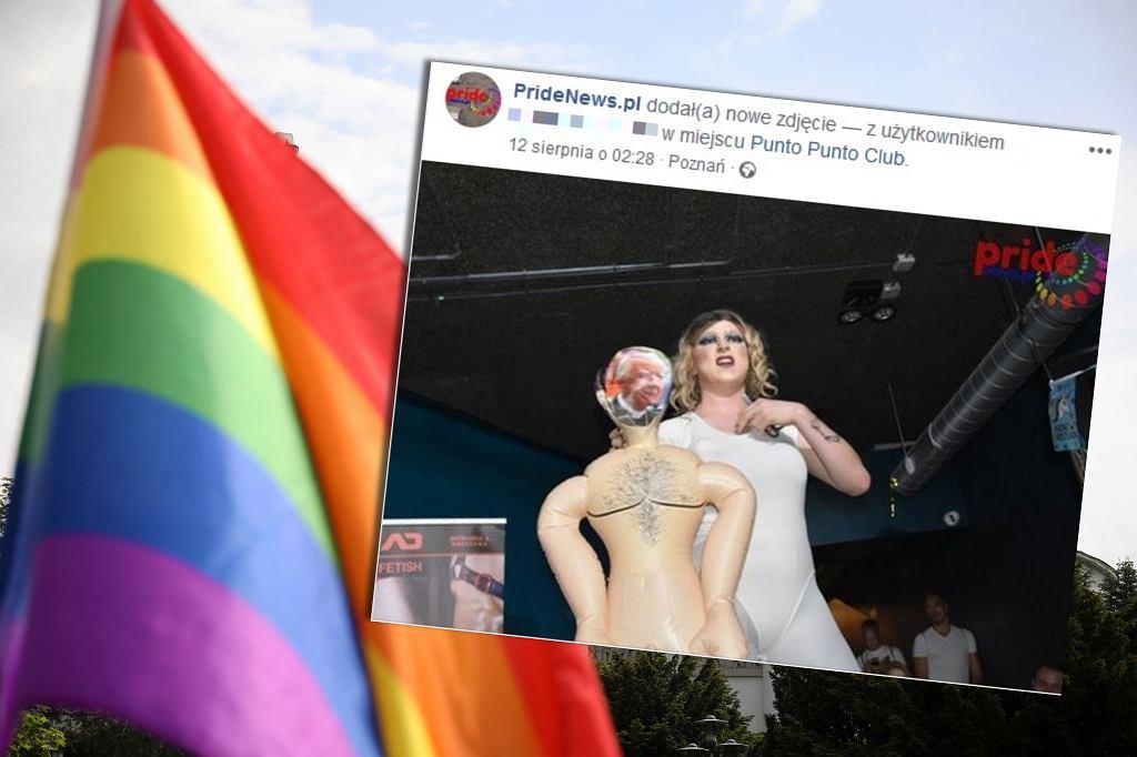 Podczas wyborów Mr. Gay Poland drag queen podcięł gardło lalce z wizerunkiem abp. Jędraszewskiego