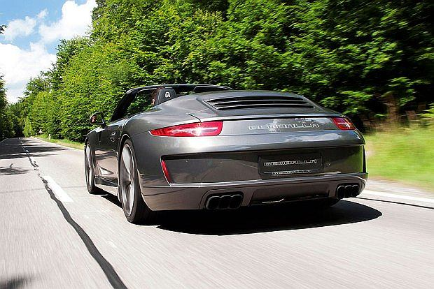 Nowość w Porsche - Gemballa proponuje układ wydechowy z trzema końcówkami po każdej stronie