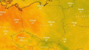 Prognoza pogody - temperatura w nocy z 17 na 18 czerwca