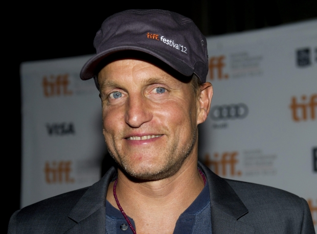 """Actor Woody Harrelson poses on the red carpet at the gala for the new movie """" Seven Psychopaths"""" during the 37th annual Toronto International Film Festival in Toronto on Friday, Sept. 7, 2012. (AP Photo/The Canadian Press, Nathan Denette)"""
