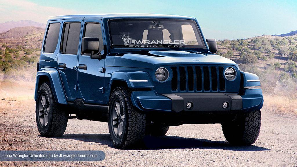 Wizualizacja nowego Jeepa Wranglera