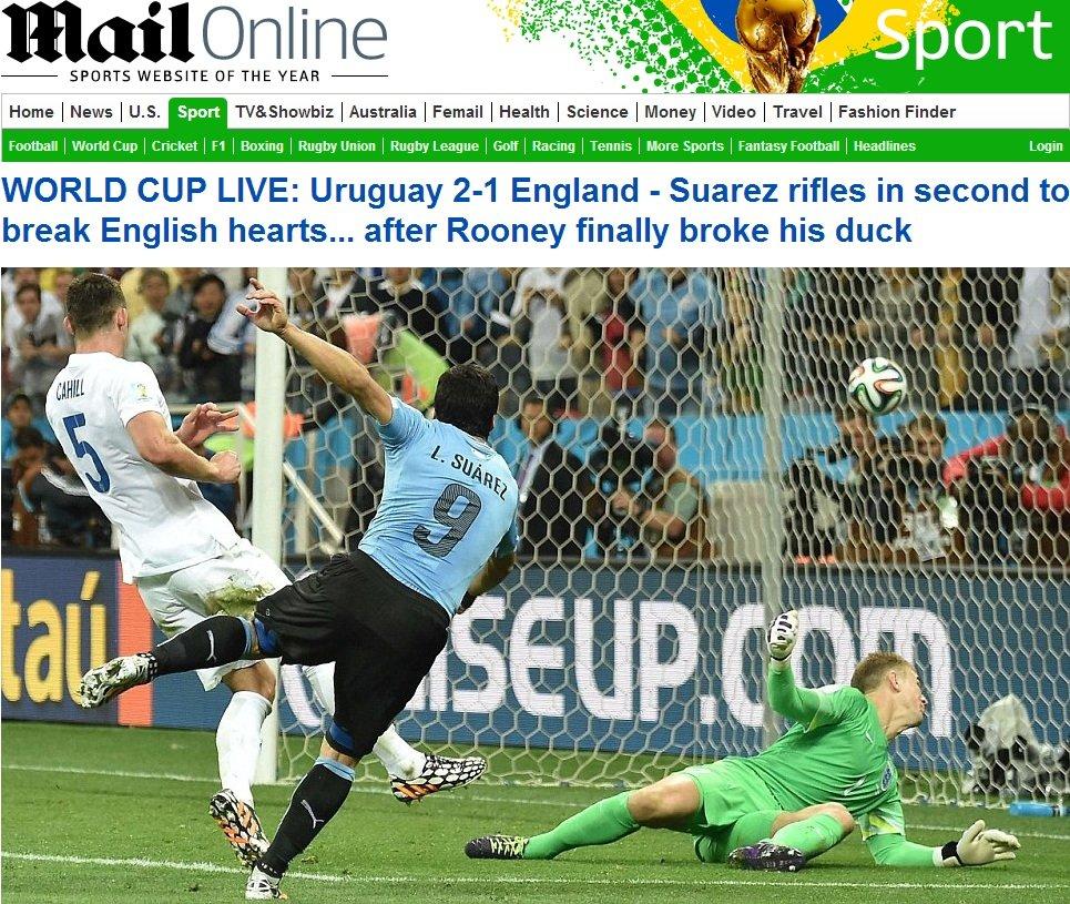 Daily Mail: 'Suarez strzela i w sekundę łamie angielskie serca...