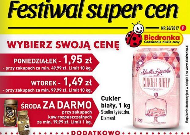 Biedronka - promocja na cukier