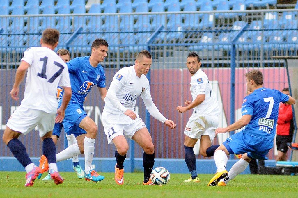 Lech Poznań - Pogoń Szczecin 0:0 w sparingu rozegranym we Wronkach. Marcin Robak i Marcin Kamiński