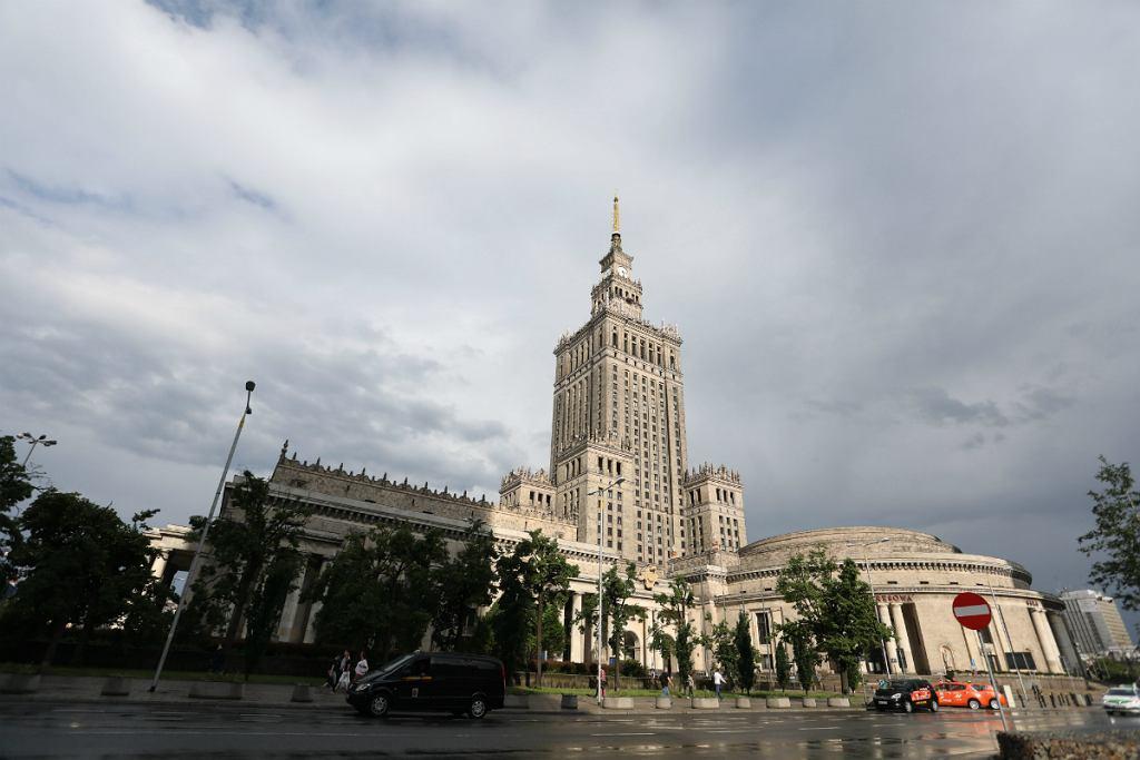 Widok z iglicy Pałacu Kultury