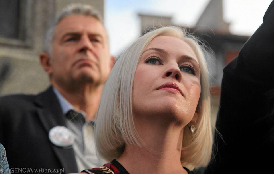 Słowami Sklepowicza poczuła się urażona Magdalena Frasyniuk, uczestniczka 'czarnego protestu'