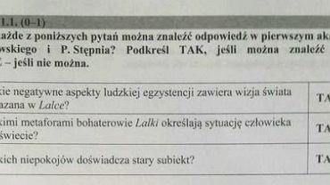 Matura 2016 język polski PP odpowiedzi