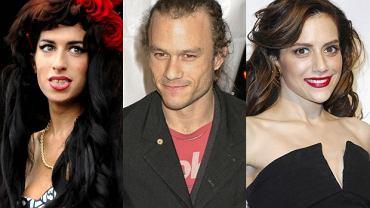 Amy Winehouse, Heath Ledger i Brittany Murphy