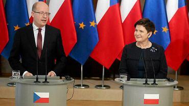 Wisła. Spotkanie premier Beaty Szydło z szefem rządu Czech Bohuslavem Sobotką