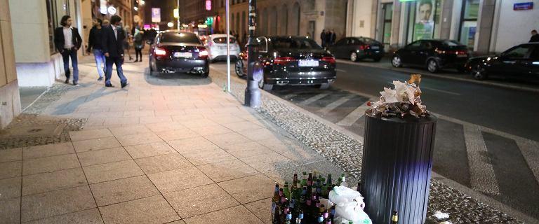 Straż miejska robi porządek na najbardziej ''rozrywkowej'' ulicy w Warszawie