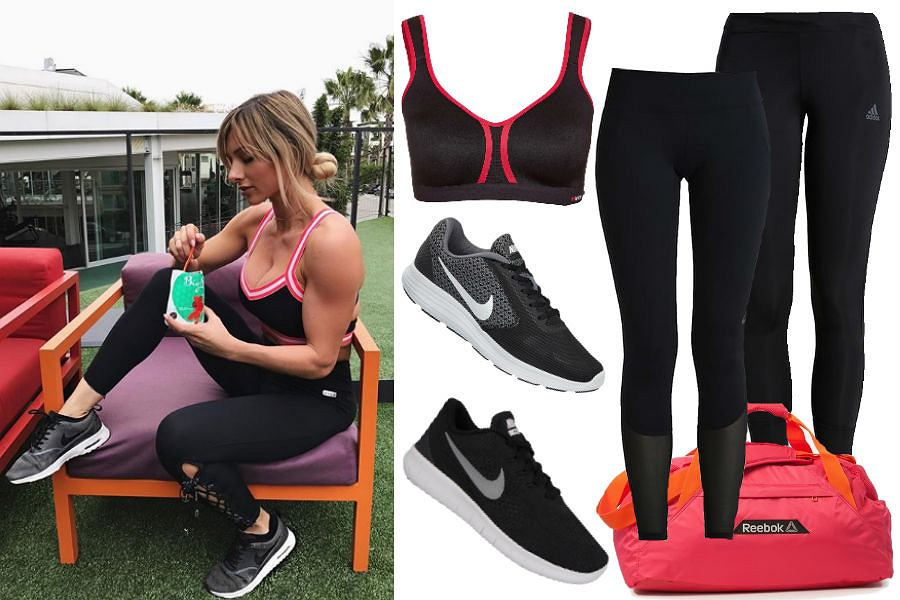 Kolaż / Źródło: www.instagram.com/paigehathaway / Stylizacja na fitness