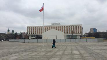 Namiot na pl. Piłsudskiego