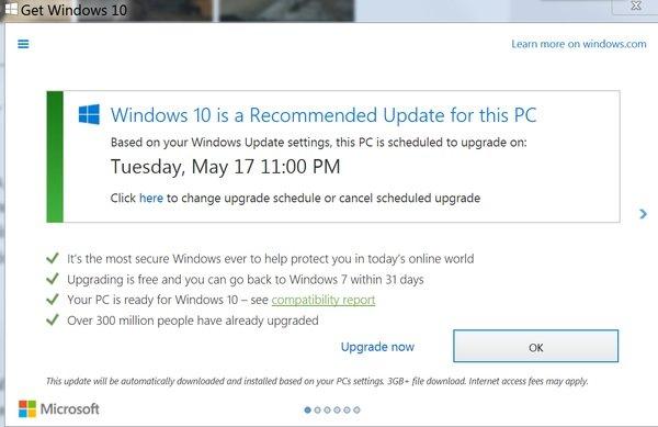 Windows 10 informuje: dziś aktualizacja