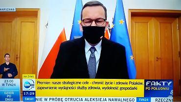 Premier Mateusz Morawiecki ogłasza nowe strefy czerwone i zaostrzenie przepisów antyepidemicznych