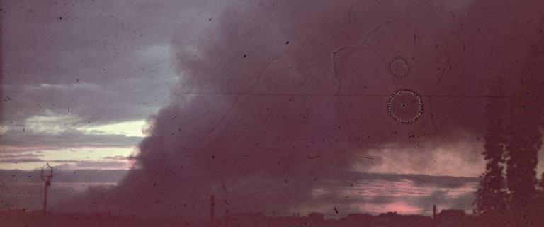 Powstały tylko trzy kolorowe zdjęcia ukazujące płonące getto.