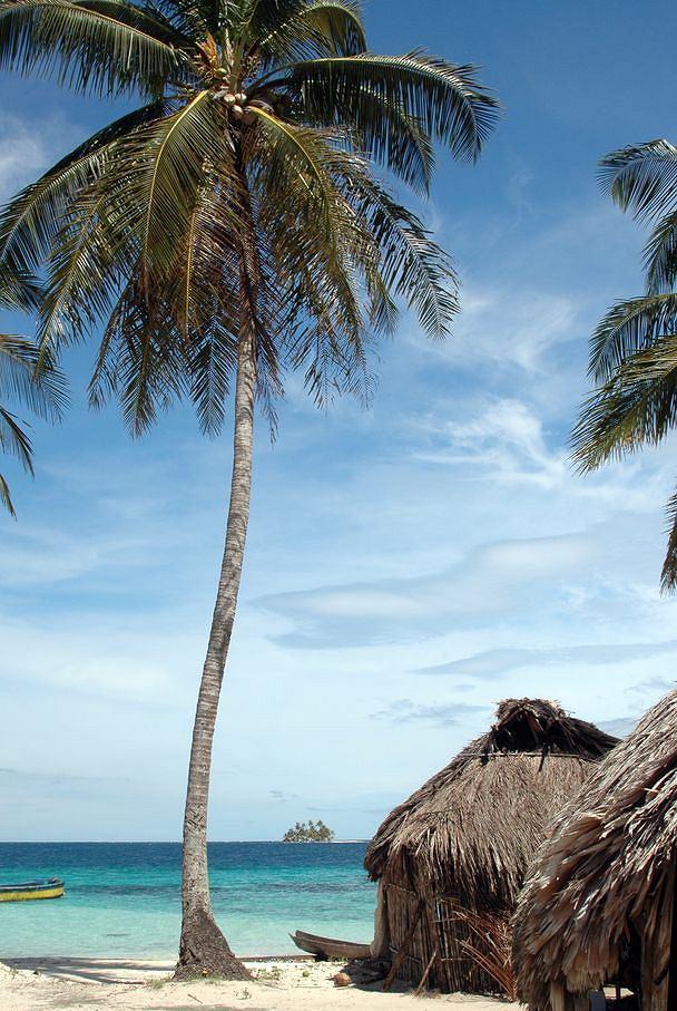 Jedna z wysp w archipelagu Sun Blas - Panama / shutterstock
