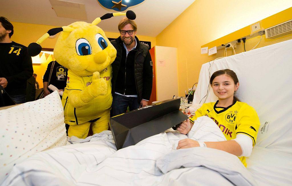 Piłkarze Borusii Dortmund w szpitalu dziecięcym