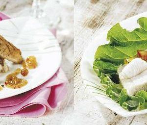Sandacz na zimno z sosem agrestowym, Sandacz w sosie rabarbarowym kolonialnym