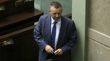 Prezes Najwyższej Izby Kontroli Marian Banaś podczas pierwszego posiedzenia Sejmu IX kadencji.