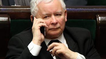 Jarosław Kaczyński podczas 36. posiedzenia Sejmu VIII Kadencji. Warszawa, 24 lutego 2017
