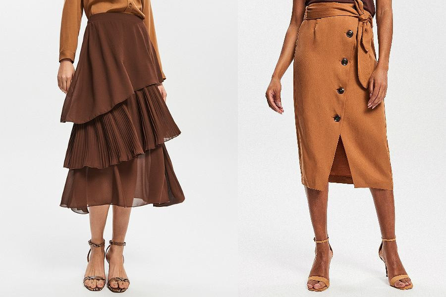 Brązowe spódnice