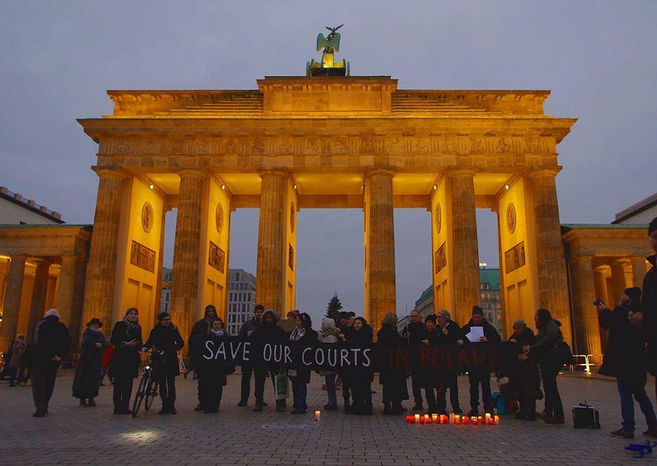 Protest solidarnościowy z polskimi sądami, Berlin