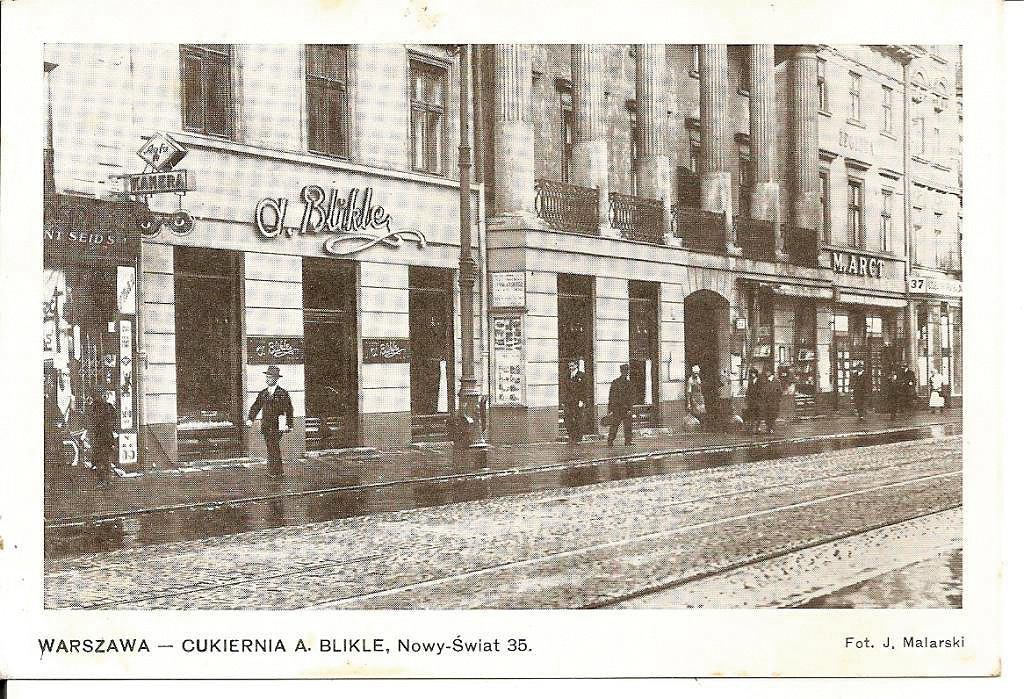 Kawiarnia Bliklego założona w1869 r.