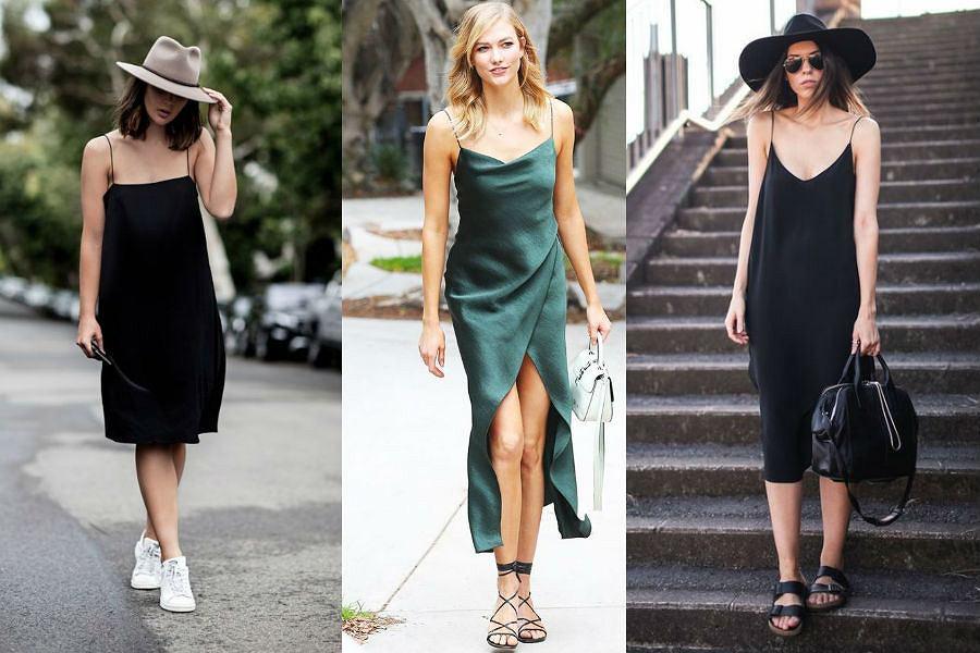 Sukienki na cienkich ramiączkach