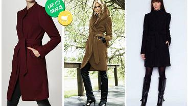 Ciepłe płaszcze z paskiem do 300 zł