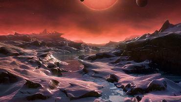 Tak może wyglądać zimne słońce TRAPPIST-1 z powierzchni jednej z jego planet