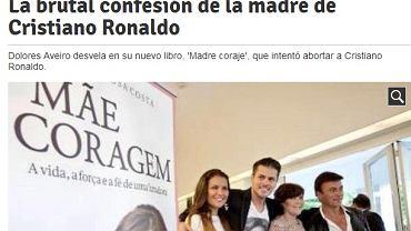 "Screen ze strony ""El Mundo Deportivo"""