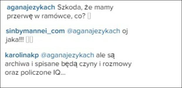 Komentarze pod postem na Instagramie Karoliny Korwin Piotrowskiej