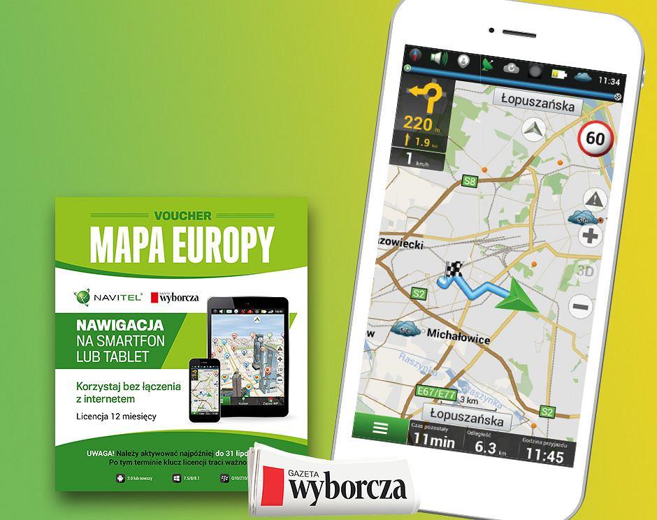 Voucher Na Nawigacje Navitel Mapa Europy Z Wyborcza