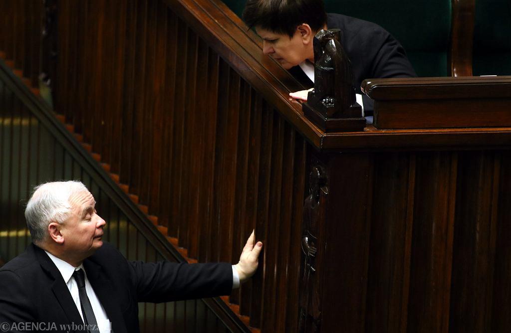 Jarosław Kaczyński i Beata Szydło