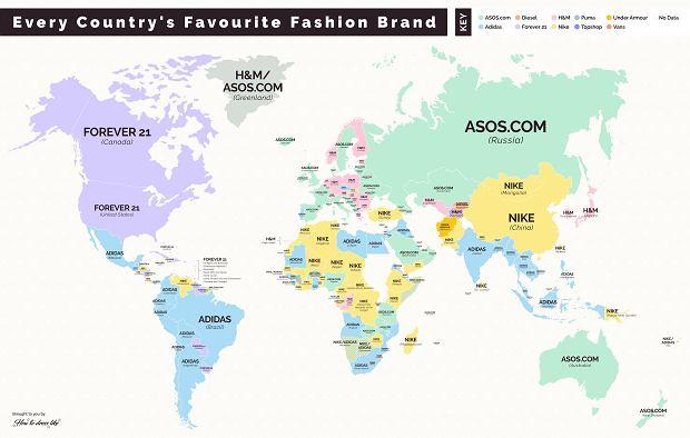 Ulubione marki odzieżowe na świecie