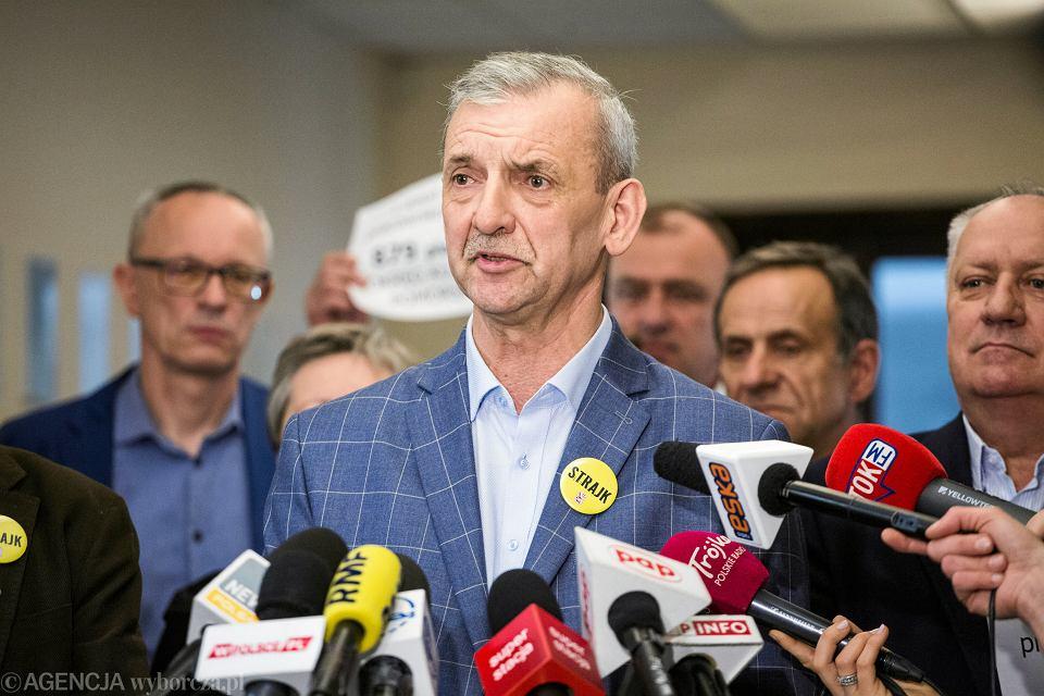 Strajk nauczycieli. Szef ZNP Sławomir Broniarz