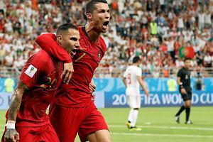 Cristiano Ronaldo i Ricardo Quaresma w meczu Iran - Portugalia na mistrzostwach świata w Rosji. Sarańsk, 25 czerwca 2018