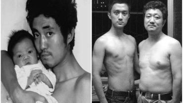 Tian Li z ojcem w 1986 i 2007 roku