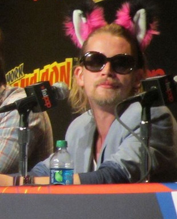 Stars attend the 'Adult Swim' and 'Oldboy' NYCC panels located at the Javits Center, also autograph signings by Macaulay Culkin, Seth Green, Jason David Frank and more in NYC.  Pictured: Clare Grant, Seth Green, Matthew Senreich,Breckin Meyer and Macaulay Culkin