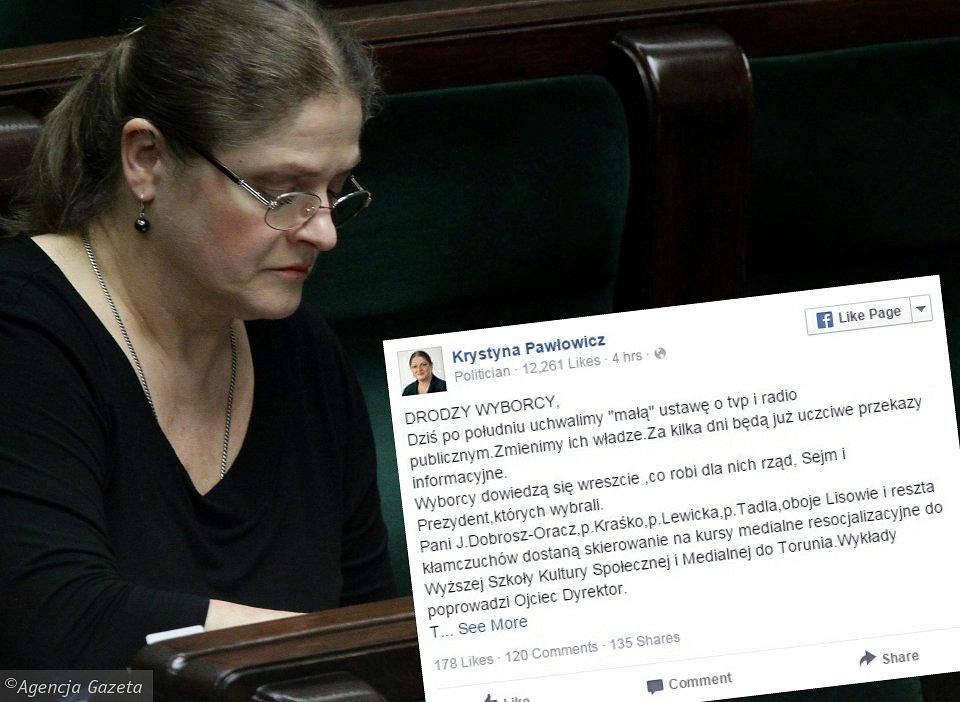 Krystyna Pawłowicz o ustawie o