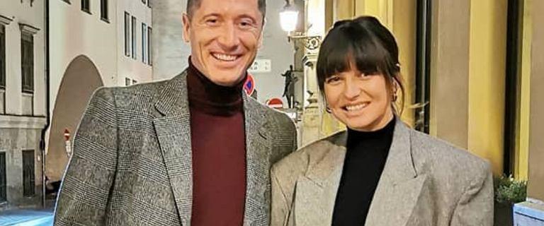 Anna i Robert Lewandowscy w podobnych stylizacjach. Fani pytają trenerkę: Czy to marynarka Roberta?