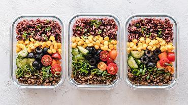 Przykładowy posiłek na diecie opartej na produktach roślinnych