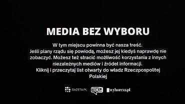 Tak wyglądałaby Polska bez wolnych mediów.